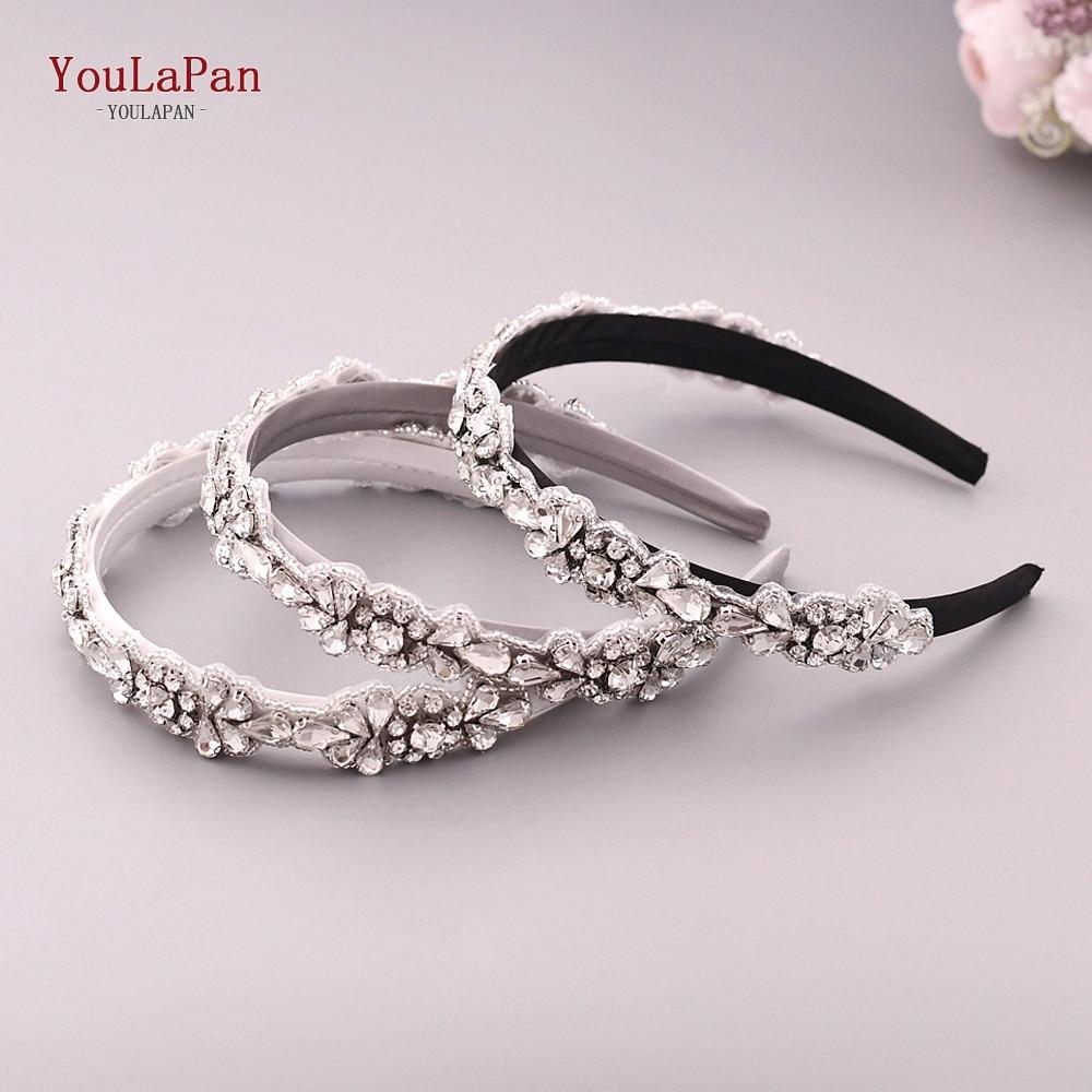YouLaPan S235-FG  Wedding Hair Accessories Baroque Rhinestone Headband Wedding Headdress Wedding Hair Decoration For Women