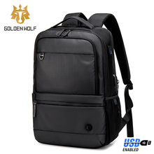 Men Backpack Bag Travel Laptop Bags Pocket with USB Charge Multifunction Teenage Schoolbag Waterproof Computer Backpacks for Man