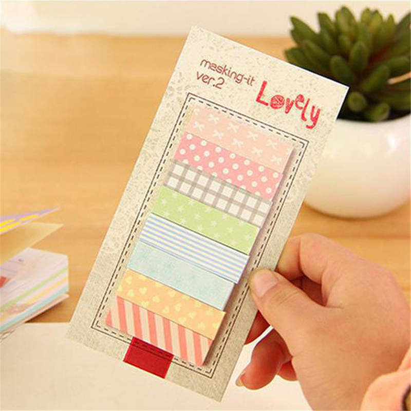 DIY Cute 160 Pages Sticker Sticky Notes Bookmark Marker Memo Flags