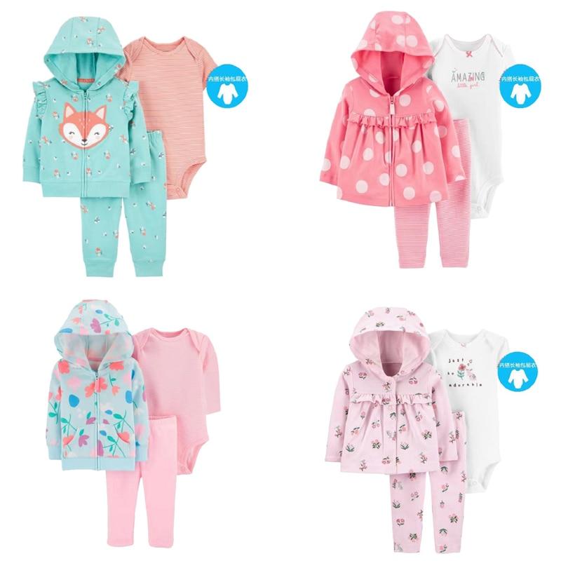 baby girl clothes long sleeve dot jacket+bodysutit+pant boy clothing newborn outfit new born set winter 2020 autumn costume