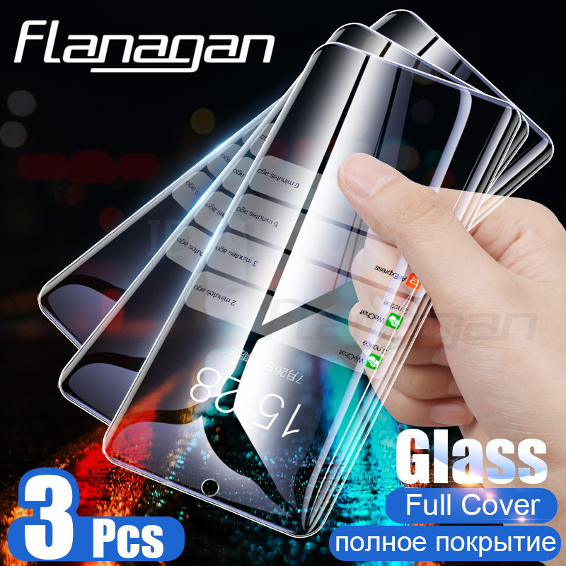 3PCS Tempered Glass For Samsung Galaxy A50 A30 A10 A20E A40 A70 A90 Screen Protector Film Glass For Samsung M10 M20 M30 Glass