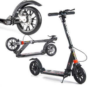 Adult and Children Scooter Folding PU 2 Wheel Bodybuilding All Aluminum Cushioning City Campus Transportation