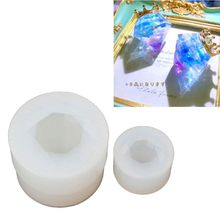 2Pcs Small Beautiful Faceted Diamond Silicone Resin Mold Jewelry Making Tools