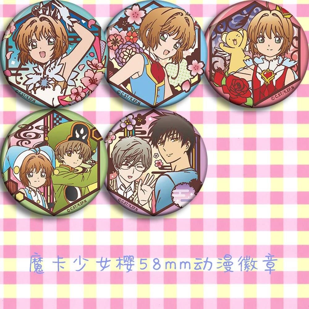 Japan Anime Card Captor Sakura C Cosplay Badge Cartoon Collection Backpacks Badges Bags Button Brooch Pins Gift