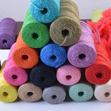 2mm 100% Cotton Cord Colorful Rope Beige Twisted Craft Macrame String DIY Home Textile Wedding Decorative Supply 100g/roll