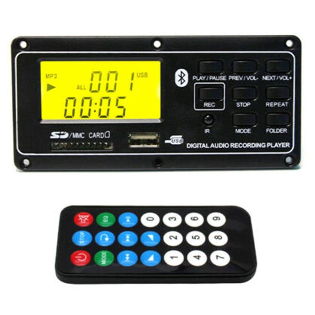 Led Small Audio Decoder Module MP3 Player Bluetooth Board Remote Control Aux  Card USB FM Digital Accessories