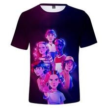 kpop  stranger things t shirt 3D printed summer t-shirt Men/Women Casual harajuku tshirt Clothes