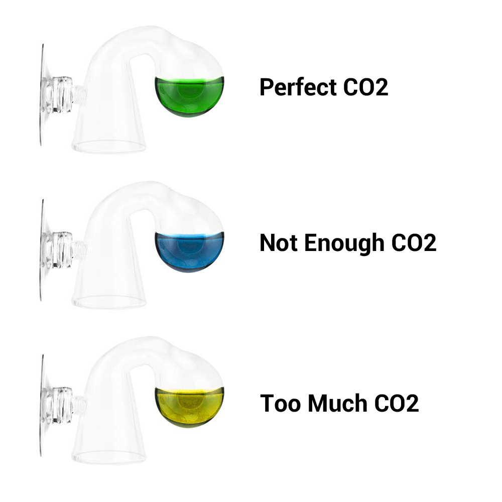 NICREW Fish Tank CO2 rozproszone szkło Drop Checker dla monitora Co2 szkło drop checker PH długoterminowy wskaźnik Tester
