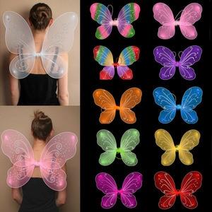 42 см; Лидер продаж; Платье принцессы для маленьких девочек Феи; Бабочки; Крылья нарядное платье вечерние костюм; Маскарадный костюм для дево...
