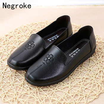 Autumn Flats Women Shoes Slip On Loafers Patent Leather Women's Flat Heel Footwear Female Ballet Flats Casual Mother Shoes animal print flat shoes women plus size slip on loafers point toe snake shoes casual ballet flats comfort driving shoes woman