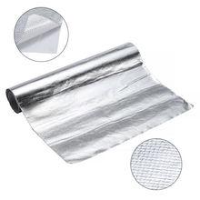 "12""x24"" Heat Shield Barrier Aluminum Fiberglass Cloth With Adhesive Layer A+  Heat Shield High Quality"