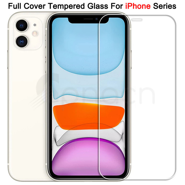 9H Tempered Protective Glass For iPhone 11 12 Pro XR X XS Max Screen Protector Film on iPhone 7 6 8 6s Plus 5 5S SE 2020 Glass