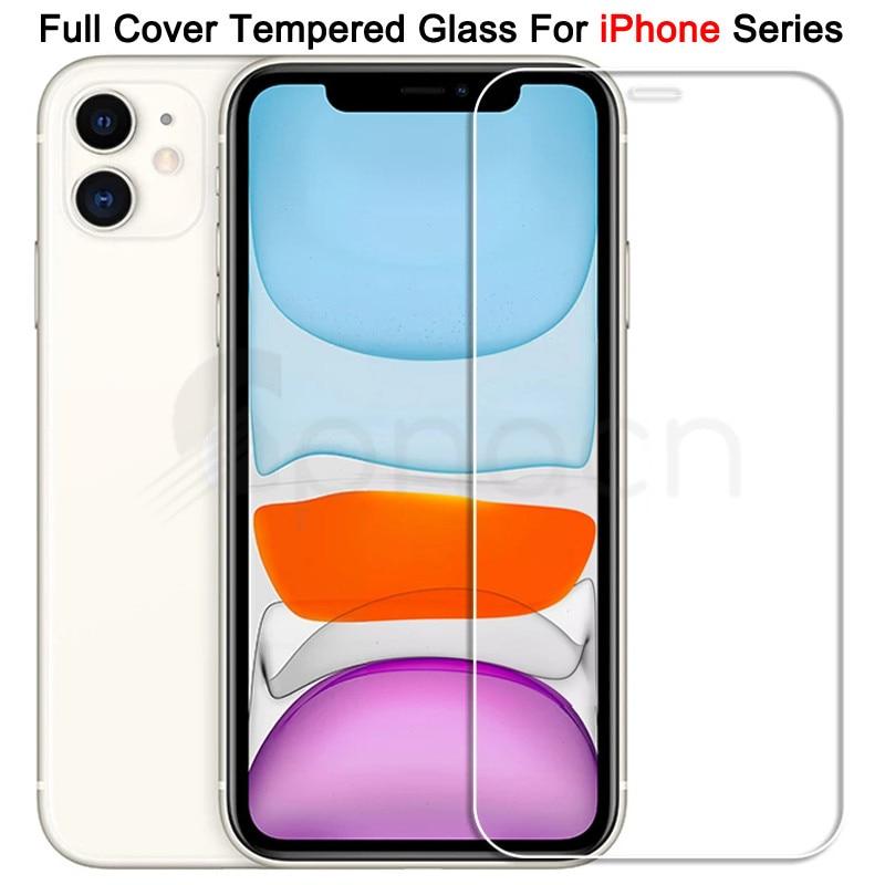 С уровнем твердости 9H закаленное защитное стекло для iPhone 11 12 Pro XR X XS Max Защитная пленка для экрана на iPhone 7, 6, 8, 6s, Plus, 5, 5S SE 2020 стекло