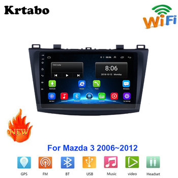 Car radio Android multimedia player For Mazda 3 2006~2012 Car touch screen GPS Navigation Support Carplay Bluetooth WIFI