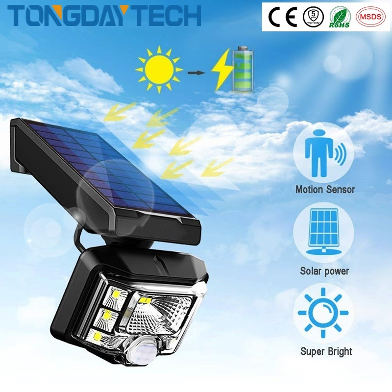 Ip658 PIR Motion Sensor Solar Outdoor Lights Adjustable Angle for Garden Wall and yard Security 2