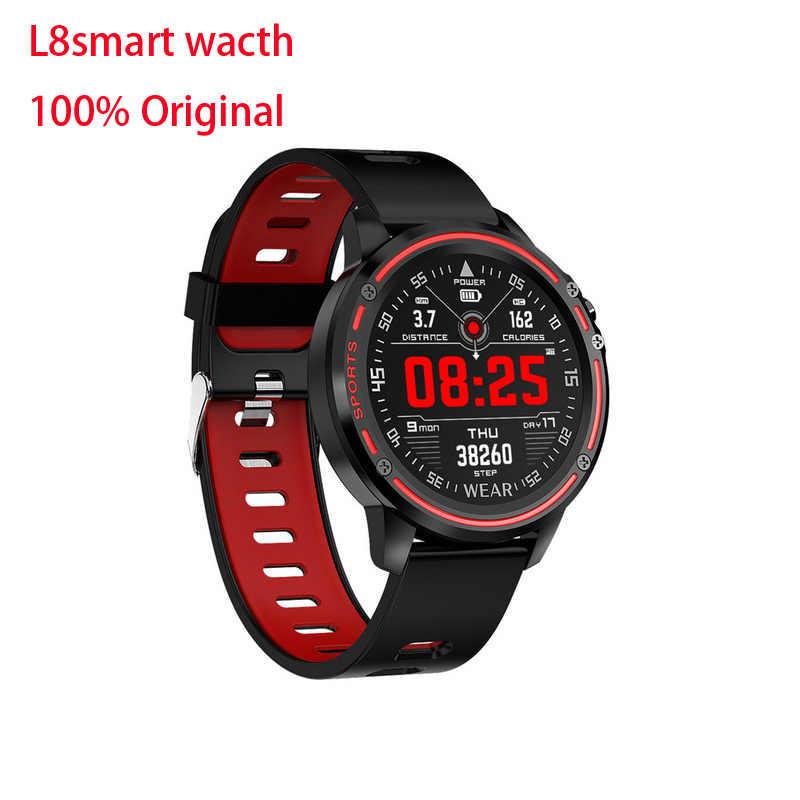 สมาร์ทนาฬิกาL8 IP68กันน้ำSmartwatchกีฬาฟิตเนสTrackerสมาร์ทของผู้ชายพร้อมECG PPGความดันโลหิตPulse PK l5 KW10