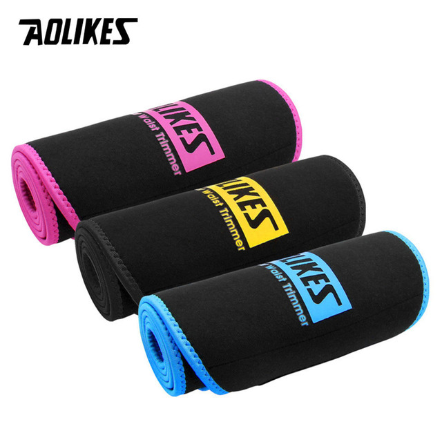 AOLIKES Sports Waist Trimmer Belt Slim Weight Loss Sweat Band Lumbar Brace Support Gym Accessorie Weightlifting Training Fitness 5