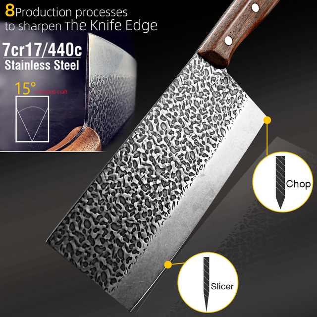 Hand-Made Stainless Steel Chopping Cleaver 2