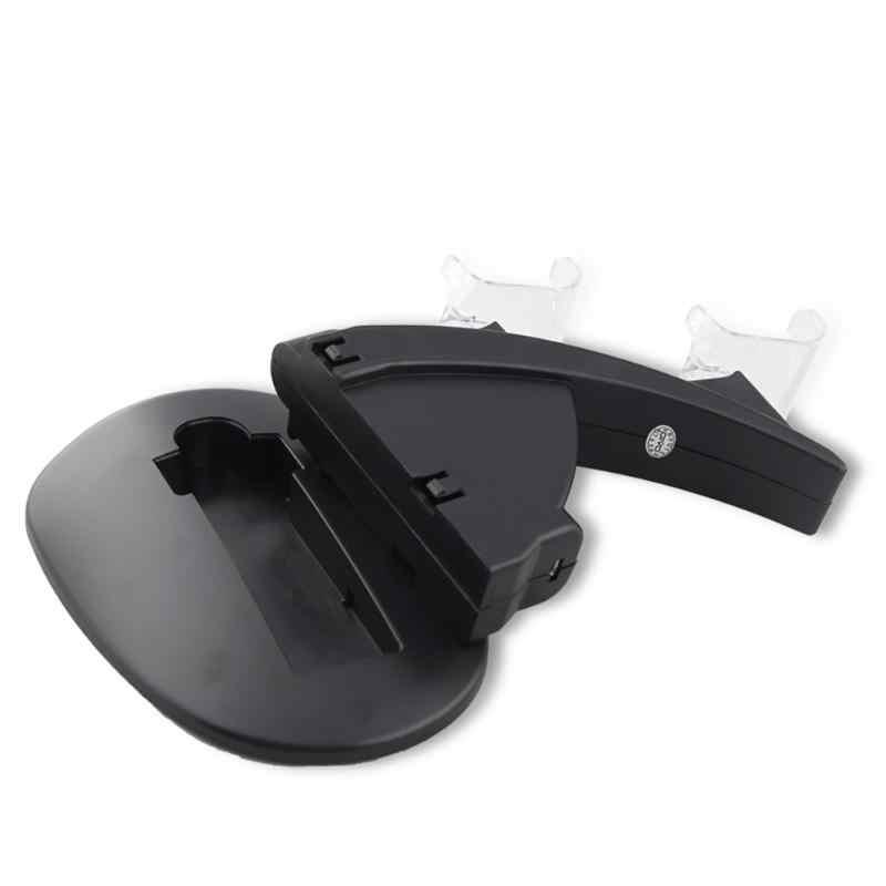 Panas Dual USB Pengisian Stasiun Dudukan untuk Sony PlayStation 4 PS4/PS4 Pro/PS4 Slim Controller untuk PS4 controller Charger Dock