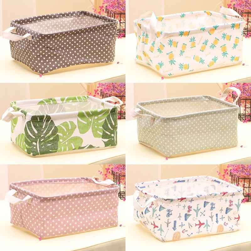 Organizer Storage-Bag Underwear Cosmetic Desktop Cotton-Linen Household Toy Sundries