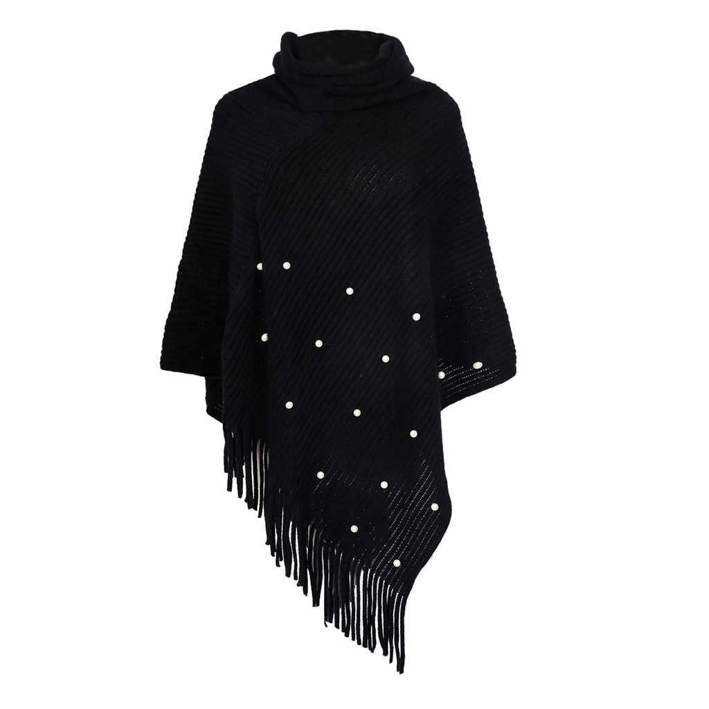 ผู้หญิงฤดูหนาวผ้าพันคอสำหรับสุภาพสตรีถัก CASHMERE Poncho Capes Shawl Cardigans เสื้อกันหนาว Panuelos De Mujer Para El Cuello # YL10