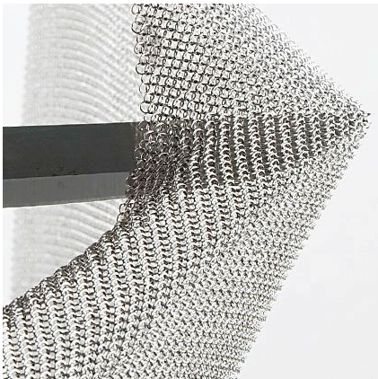Chain Mail Stainless Steel Mesh For Decorate Stainless Steel Table Linen 30*30cm Welded Mesh