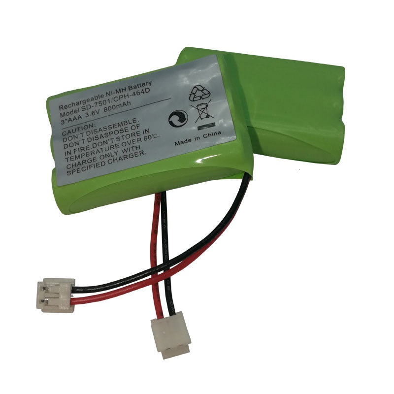 3.6V 800mAh NiMH Rechargeable Battery for Motorola SD-7501 <font><b>V</b></font>-Tech 89-1323-00-00 AT & T Lucent 27910 CPH-464D Cordless Home Phone image