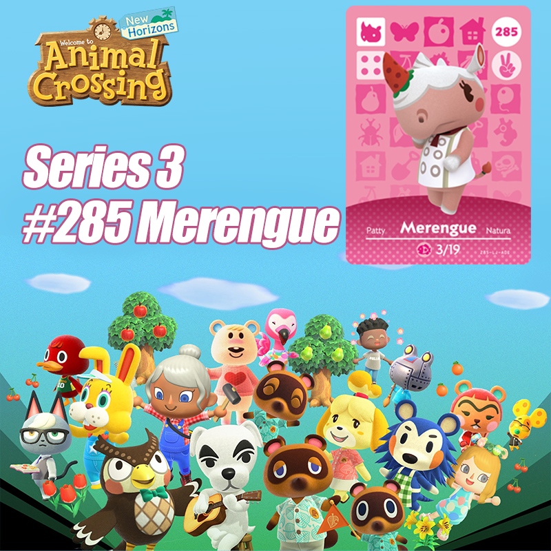 Animal Crossing New Horizons Card Amiibo Card Work For NS Switch Game  #285 Marengue  Cards Drop Shipping