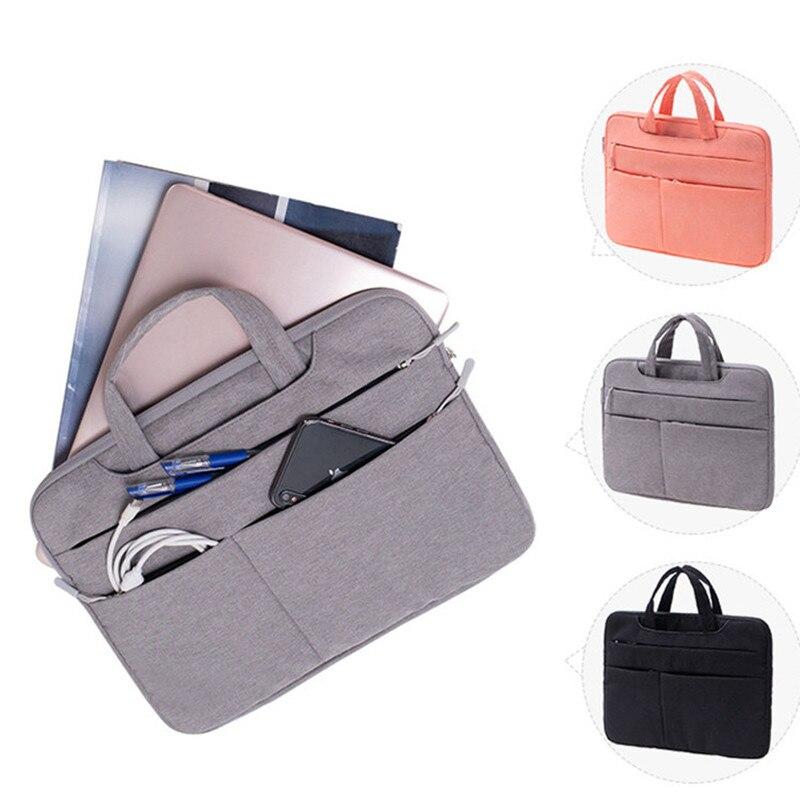 Men Business Document Bag Shockproof Notebooks Laptop Liner Bag Briefcase A4 File Folder Paper Storage Travel Accessory Item