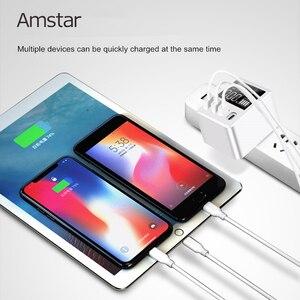 Image 4 - Amstar cargador USB tipo C para iPhone, Samsung, Huawei, adaptador de pared de viaje, carga rápida 3,0, 30W, pantalla LED