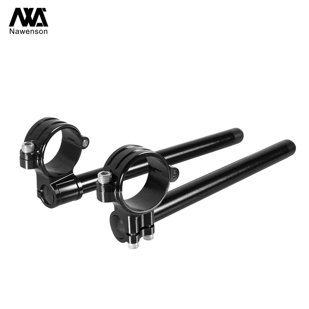 """72 For Honda CR125 1974-1978 NX125 1989-1992 35mm Motorcycle Clip-on Handlebars With 7/8"""" Tubes For CL450/CB500 72-74 CB750K 72-78 (3)"""