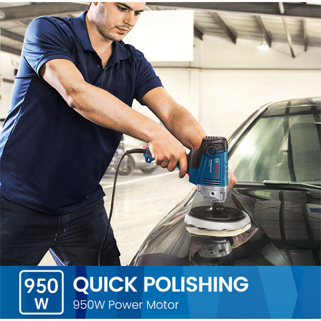 Bosch Polishing Machine GPO 950 DA Car Wax Polisher Electric 220V 50Hz Input Power 950w  EMC Backing Plate 180mm Polishing Pad 3