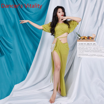 Belly Dance Costume women's long dress performance Set 2020 new suit short sleeve summer training clothes for Lady dance wear - discount item  29% OFF Stage & Dance Wear