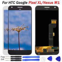 Tested 5.5 inch For HTC Google Pixel XL LCD Display Touch Screen Digitizer Sensor Glass Assembly kit Pantalla For Nexus M1 LCD for google nexus 9 replacement lcd display touch screen digitizer glass with frame assembly 8 9 inch black for tablet