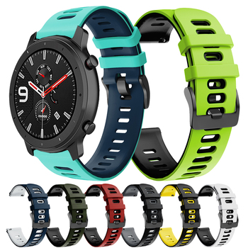 GTS Bip Correa Silicone Band for Huami Amazfit GTR 47mm 42mm Strap Amazfit Pace / Stratos 3 2 Watchband Bracelet ремешок 20 22mm