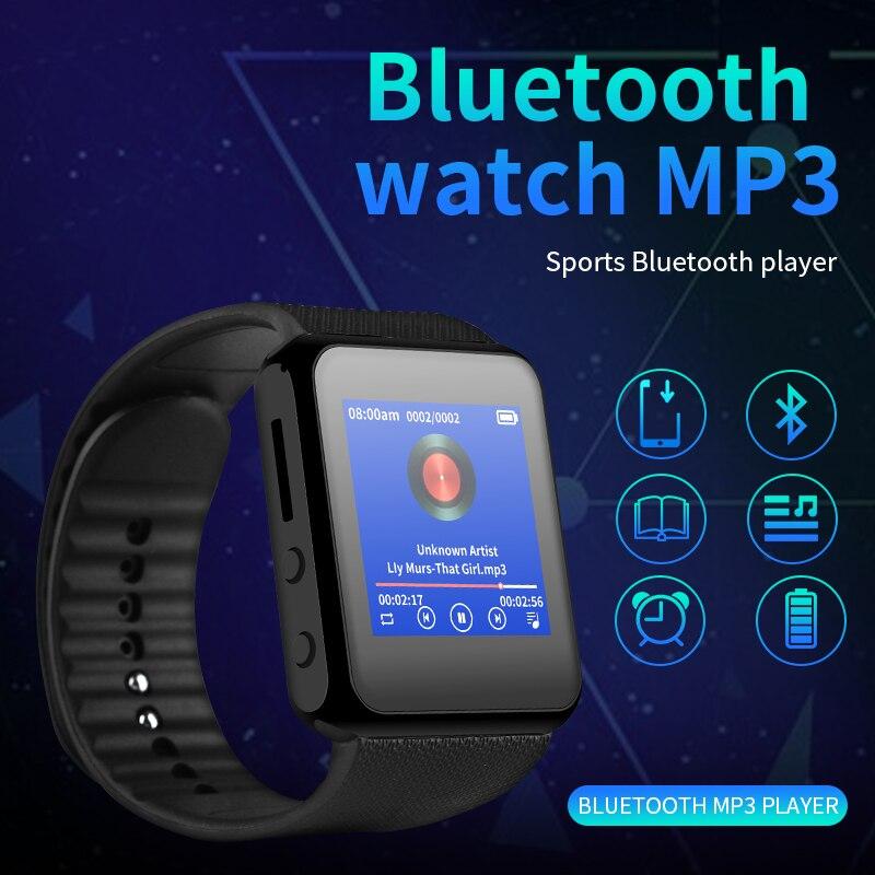 Часы Bluetooth mp3 с сенсорным экраном Hi-Fi, портативные смарт-часы с цветным HD экраном для бега, музыкальный плеер mp3