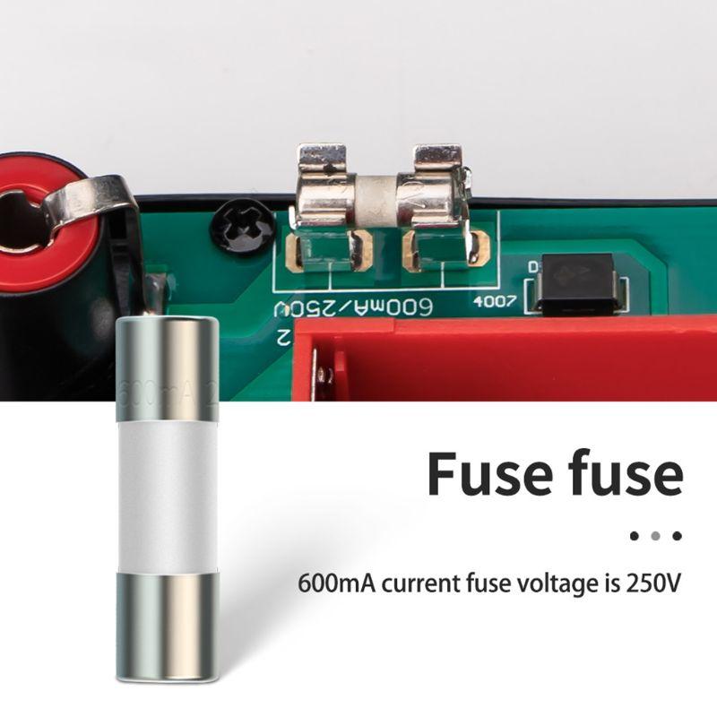 20pcs Ceramic Fuse For Multimeter Instrument 600mA 10A Ceramic British Plug Fuse 37MD