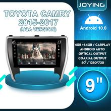 9 pollici 2 din Radio Android 10 Autoradio Audio Multimediale Unità di Testa 4G Wireless Carplay Per Toyota Camry 2015 2017 Versione USA