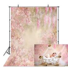 Neoback Klassieke Vinyl Lente Bloemen Bloemblaadjes Kinderen Foto Achtergronden Pasgeboren Baby Douche Studio Portret Fotografie Achtergronden