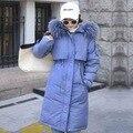 4000213027354 - 2019 chaqueta de invierno para mujer casual con Cuello de piel chaqueta de invierno para mujer Chaqueta de algodón con capucha parka