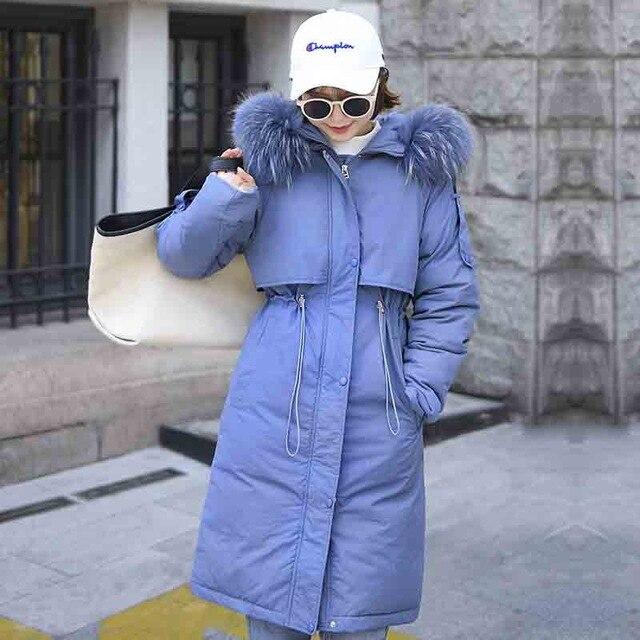 2019 Winter Jacket Women Casual With Fur Collar Winter Jacket Women Down Cotton Jacket Female Hooded Warm Coat Parka