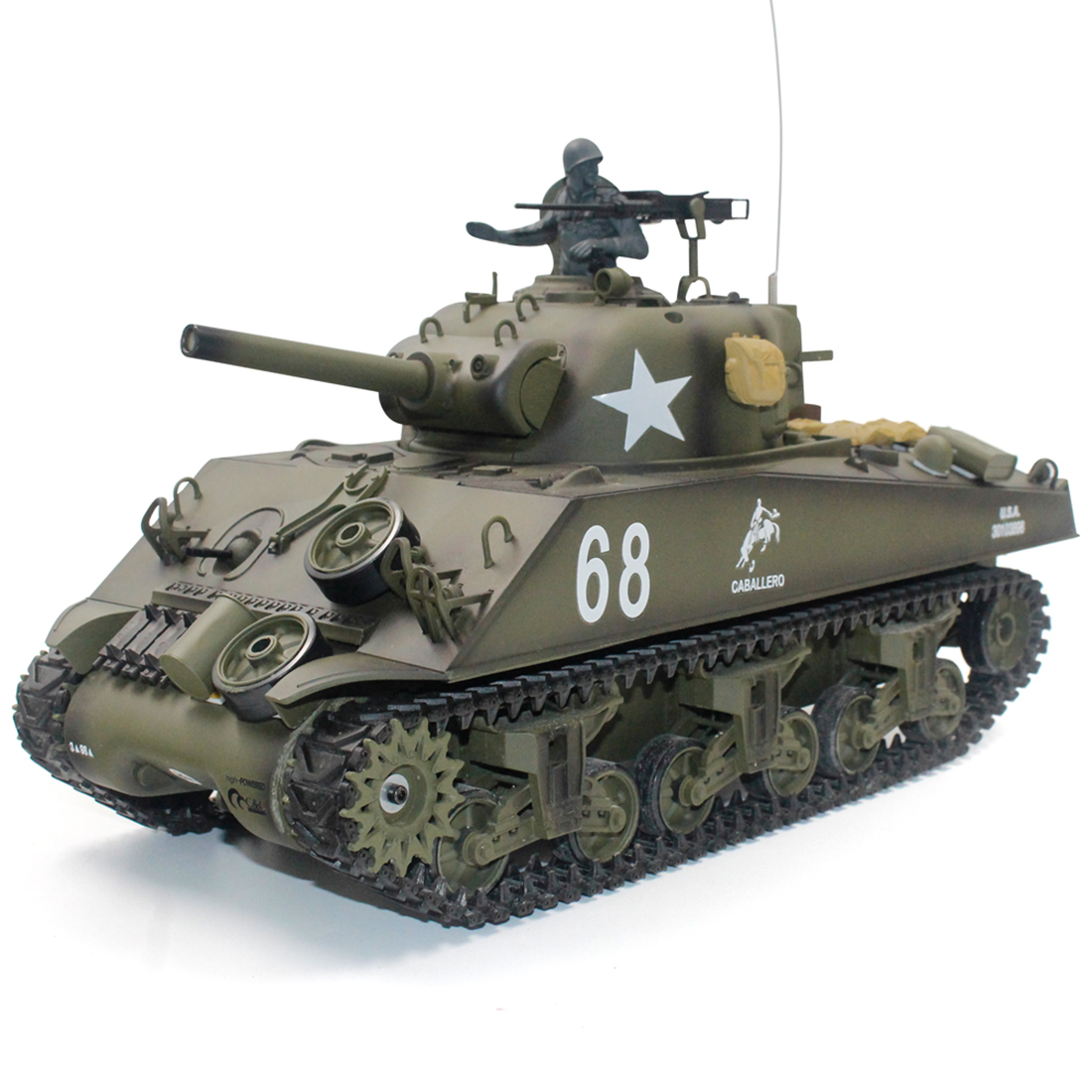 Toys Tank-Model RC Henglong Simulation 1:16-America-Scherman M4A3 for Children Educational-Toy