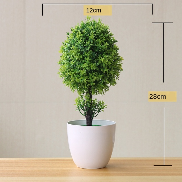 Artificial Plants Potted Bonsai Green Small Tree Plants Fake Flowers Potted Ornaments for Home Garden Decor Party Hotel Decor 4