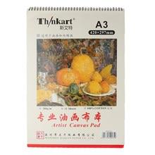 Bloc de toile pour peinture à l'huile A3/A4, 280g/m2, pour débutants, livre de dessin acrylique, peinture d'artiste, fournitures d'art