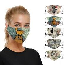 Mascarilla facial lavable con elásticos Unisex, Máscara protectora de seguridad transpirable, cosplay de Halloween rápido, 1 unidad