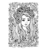 AZSG The girl in the flowers Clear Stamps For DIY Scrapbooking Decorative Card making Craft Fun Decoration Supplies 8*10cm