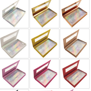 Image 3 - NEW 10/20pcs wholesale false eyelashes packaging box 3d fake mink lashes boxes faux cils strip 5pair magnetic case empty
