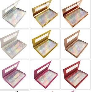 Image 3 - Novo 10/20 pçs atacado cílios postiços caixa de embalagem 3d falso vison cílios caixas falso tiras 5 par magnético caso vazio