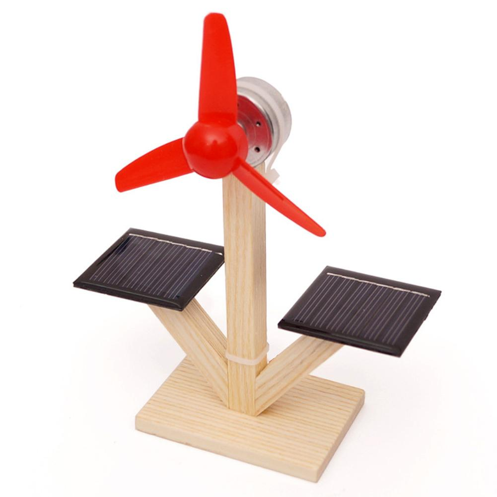 Kids DIY Solar Fan Model Building Material Science Experiment Discovery Toys