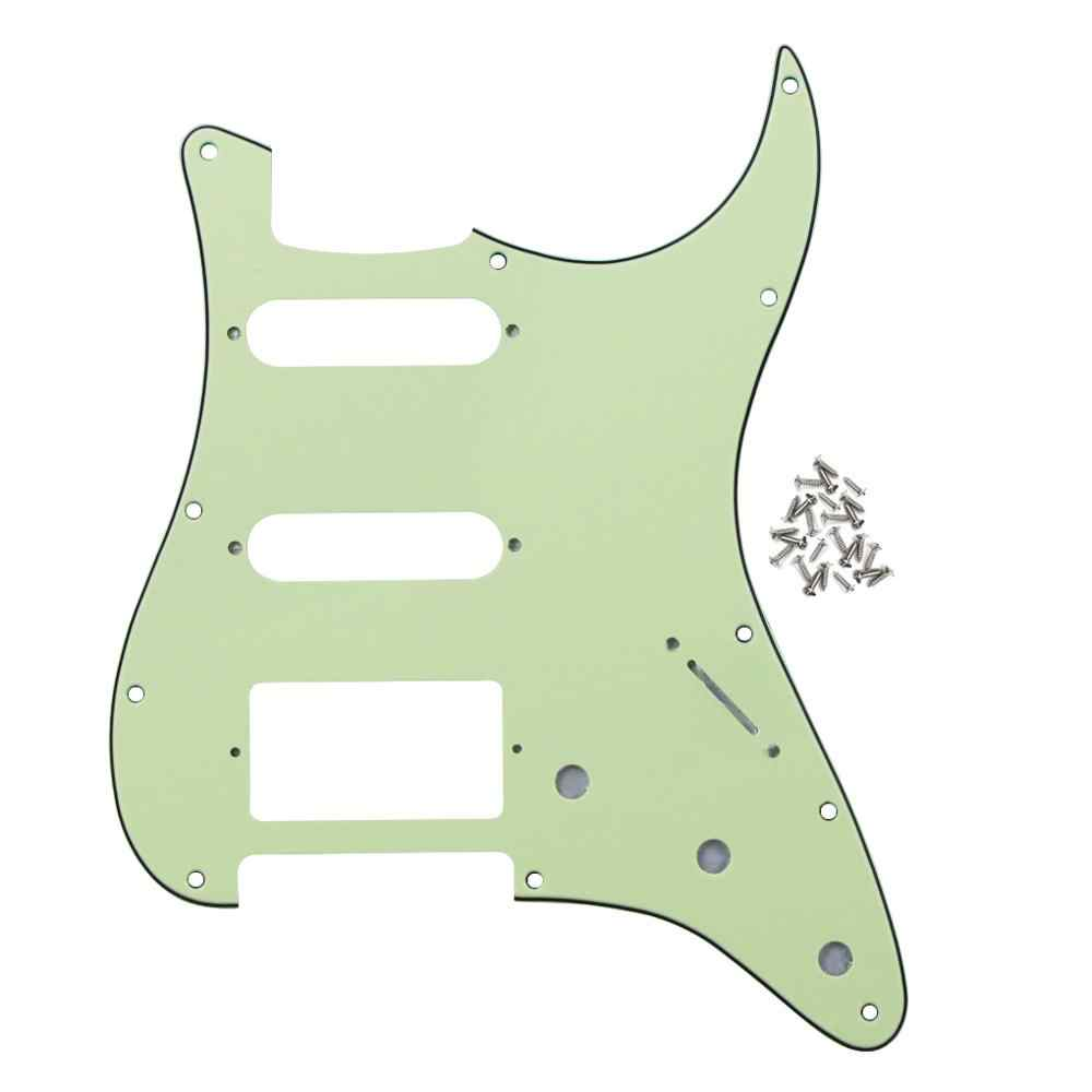 NEW Mint Green Pickguard SSH Strat Guitar Pick Guard Scratch Plate w/Screws for 11 Hole Strat Guitar Parts
